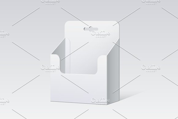 White Cardboard Holder