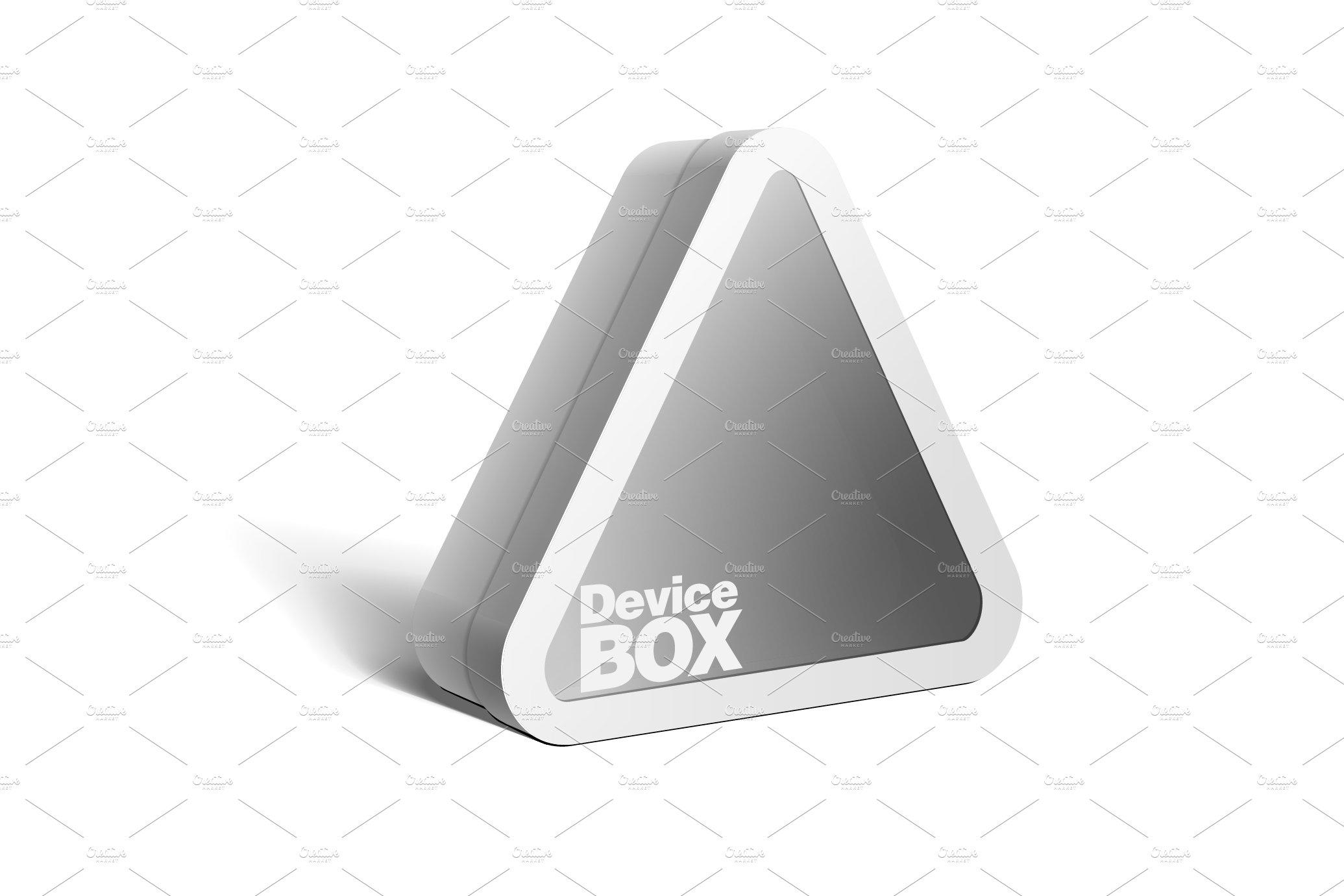White Package triangular shape Box
