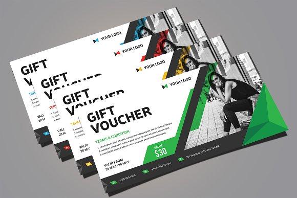 gift voucher card templates creative market