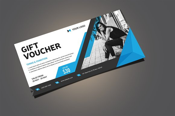Gift voucher card templates creative market negle Images