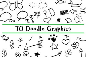70 Hand Drawn Doodle Graphics