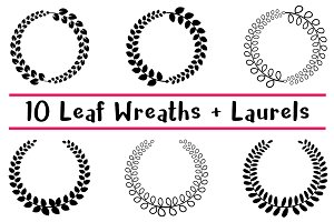 10 Leaf Wreaths and Laurels