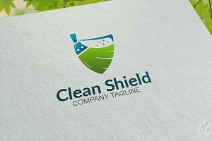 Clean Shield - Logo Template