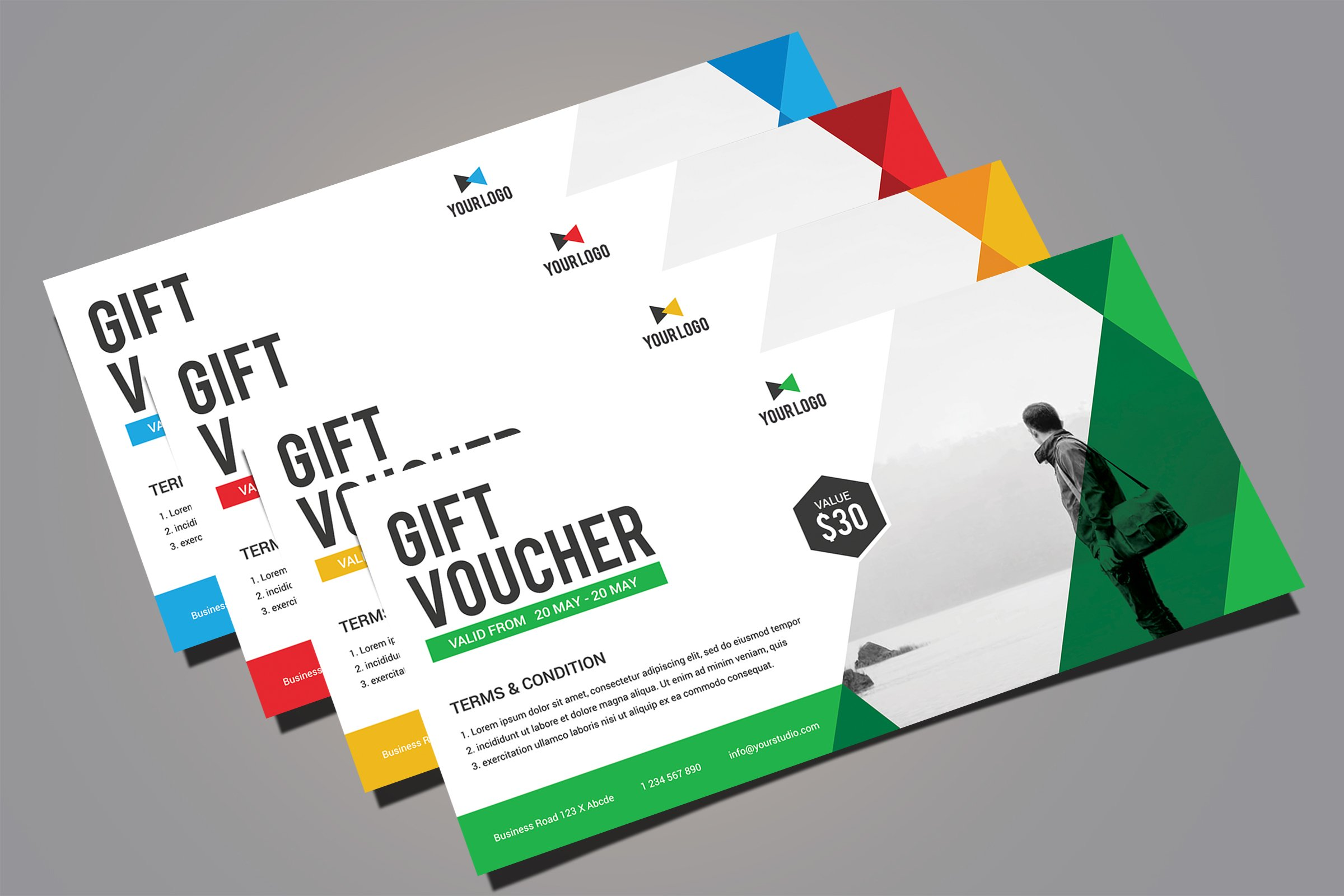 Gift card template photos graphics fonts themes templates 5 gift voucher by rongbaaz in templates yelopaper Choice Image