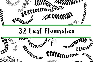 32 Decorative Leaf Flourishes