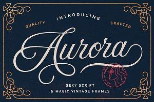 Aurora Script + Frames