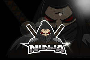 Ninja face logo team