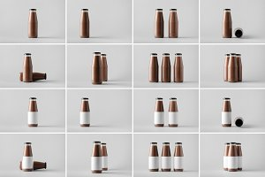 Milk Bottle Mock-Up Photo Bundle 2