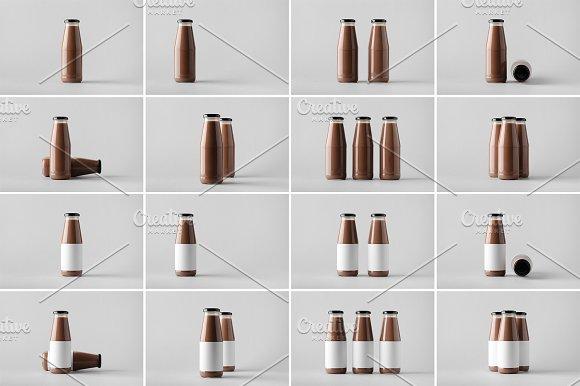 Milk Bottle Mock-Up Photo B-Graphicriver中文最全的素材分享平台