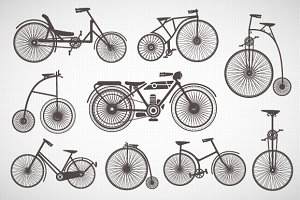 Retro Vintage Bike PNG PDF EPS