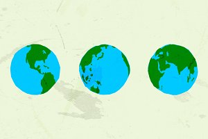 30 Handdrawn Vector Globe Shapes