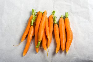 Fresh peeled carrots