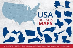 States Maps of USA