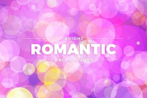 Bright Romantic Coloured Backgrounds