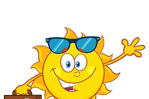 Smiling Summer Sun With Sunglasses