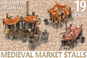 Medieval Market Stalls 2