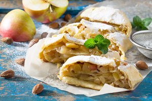 homemade apple strudel