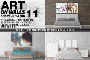 Canvas Mockups - Frames Mockups v 11