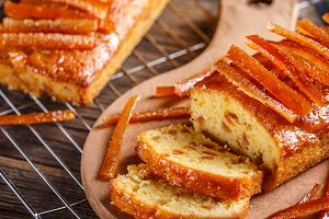 Delicious fruit loaves of bread