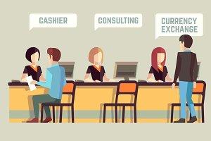 Banking vector concept