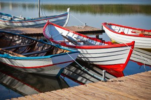 Color Wooden Boats