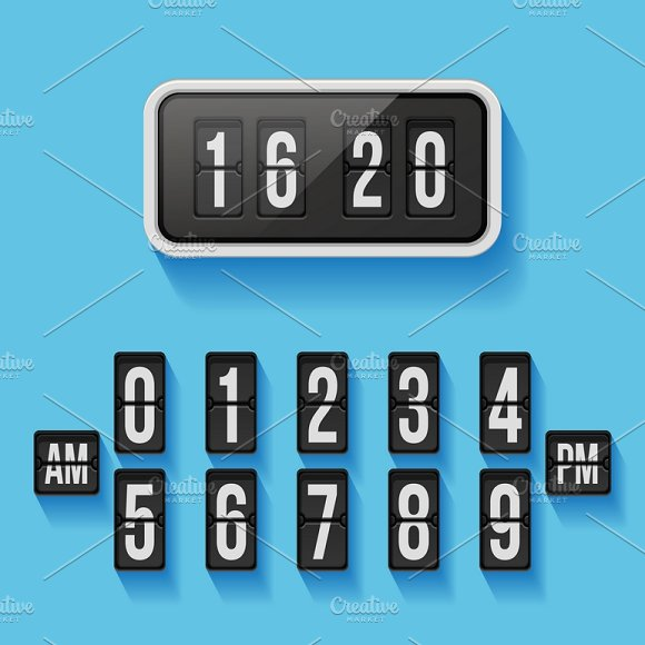 Wall Flap Counter Clock Template