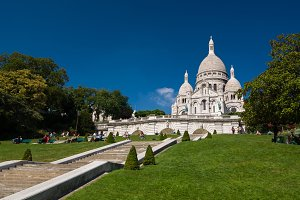 The Basilica of the Sacred Heart or Sacre-Coeur in Paris, France