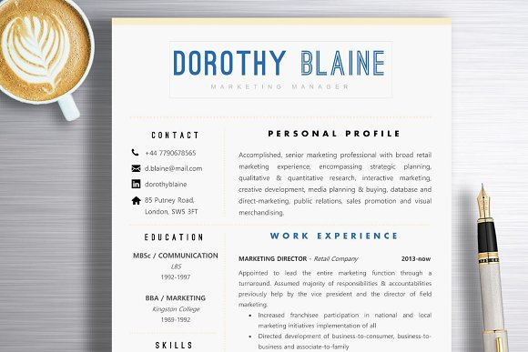 Resume Template Dorothy