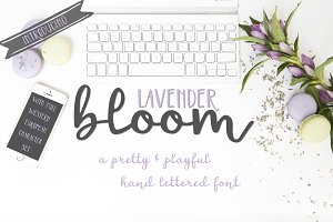 Lavender Bloom Hand Lettered Font