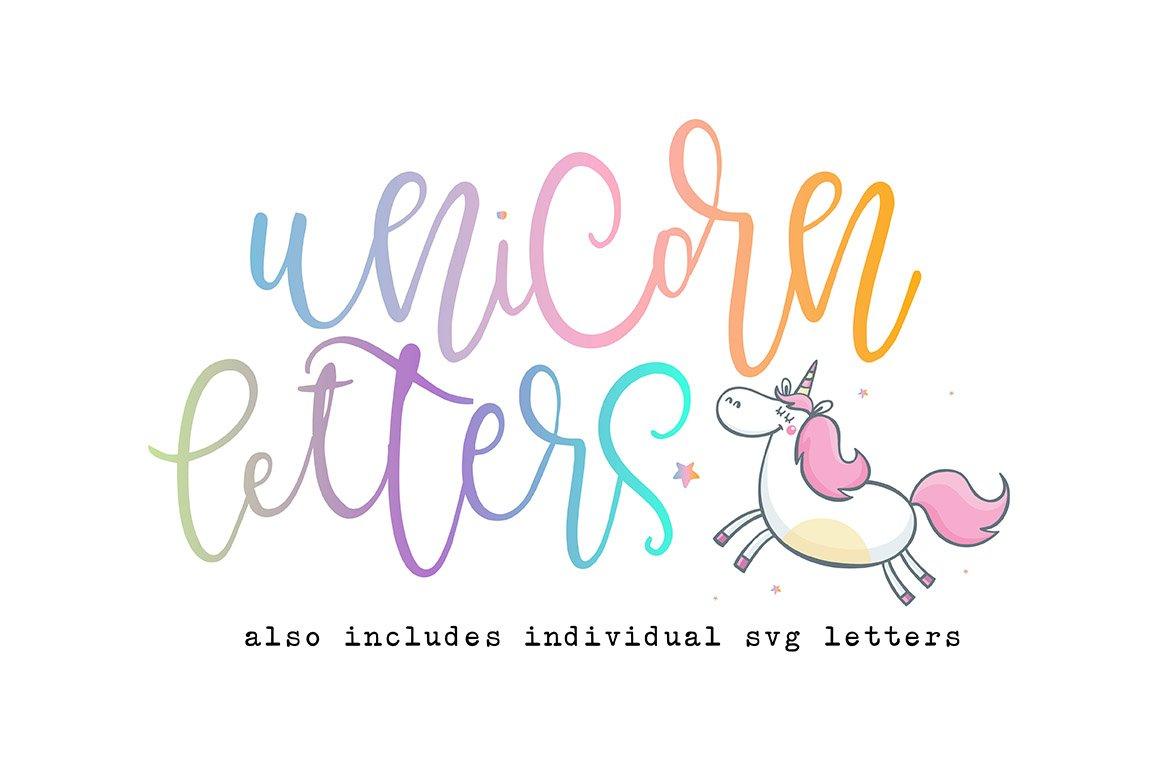 Unicorn Letters Font SVG Script Fonts Creative Market