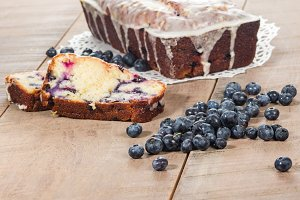 Blueberry lemon cofffee cake