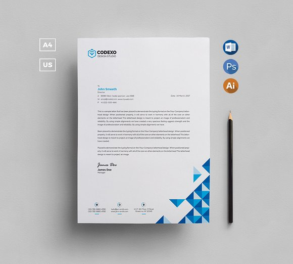 Corporate Letterhead Template At Rs 2 Piece