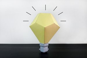 DIY Paper Bulb - 3d papercrafts