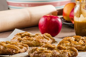 Apple tart or rustic pie with apples