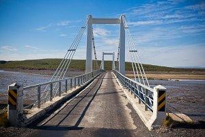 The bridge over Icelandic river