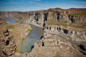 Coast of Icelandic river