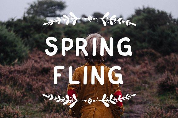 Spring Fling A Fun Sans Serif Font
