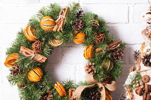 Christmas fair wreathes