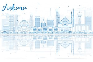 Outline Ankara Skyline