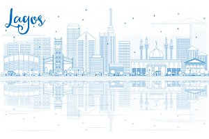 Outline Lagos Skyline