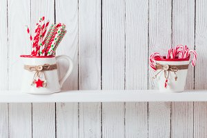 Christmas kitchen shelf