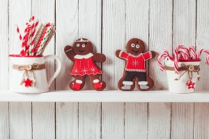 Christmas gingermen family