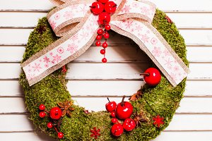 Christmas natural wreath