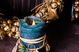 Golden Christmas decor