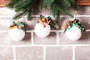 Christmas aromatic balls