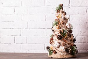 Rustic Christmas topiary