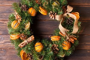 Christmas aromatic eco wreath