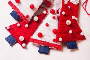 Christmas textile trees