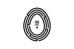 Maze Egg Hunt Poster