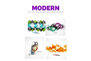 Set of futuristic modern abstract template